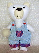 BRONSON BEAR - Sewing Craft PATTERN - Soft Toy Felt Rag Doll Bear
