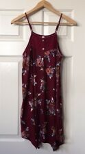 Juniors Xhilaration Maroon Floral Boho Lightweight Dress Size Small S
