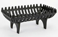 Freestanding Cast Iron Wood Log Coal Open Fire Fireplace Basket Grate