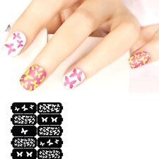 Stencil Farfalle nail art stickers adesivo decorazione unghie unghia manicure