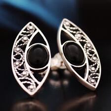 Onyx Silver 925 Earrings Ladies Jewelry Sterling Silver S0216