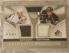 2012-13 UD SP Game Used Dual Authentic Fabrics Jersey-Dustin Brown/Dustin Penner