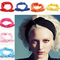 RETRO WOMEN HEADBAND WIRED HEAD SCARF ROCKABILLY HAIR BAND HEAD WRAP VINTAGE