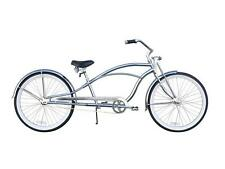"Firmstrong Urban Deluxe 26"" Stretch Beach Cruiser 36 spokes Chrome"