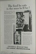 1929  GE Refrigerator advertisement, monitor-top fridge General Electric
