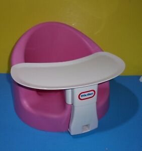 Pink Little Tikes My First Seat Foam Floor Chair with Feed and Play Tray