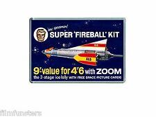 NOSTALGIA  TV21 COMIC FIREBALL XL5 KIT (Zoom lolly) ADVERT - JUMBO FRIDGE MAGNET