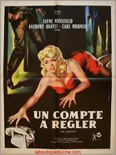 UN COMPTE A REGLER The challenge Affiche Cinéma / Movie Poster Jayne Mansfield