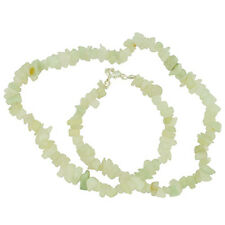 """NEW JADE 18"""" CHIP NECKLACE W/ SS CLASP AA+"""