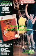Michael Jordan Vs Larry Bird Video Game '89 NES Photo Print Ad NICE SHORTS!