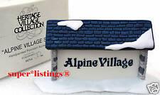 Dept. 56 Alpine Village Original Village Sign Retired 65714 Free Shipping