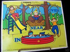 Vintage Playskool Wooden Puzzle Playground Fun #385-04