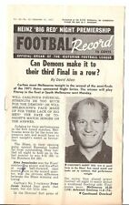 1971 VFL Night football record Carlton  Melbourne Rare