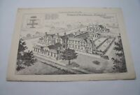 PROPOSED WORKHOUSE MILDENHALL Antique 19th Century Victorian Suffolk Plate