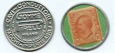 TIMBRE MONNAIE PIRELLI GOMME MILANO   10 Cts Rose/Vert