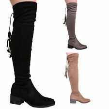 Unbranded Mid Heel (1.5-3 in.) Textile Boots for Women