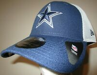 New Era 39Thirty Dallas Cowboys NFL Football Cap Hat Men's M/L flex fit navy