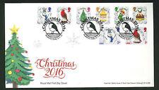 2016-Christmas FDC  Set Redberth, Tenby Postmark -Sent Post Free