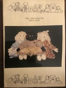 Polly, Sally & Kate Doll Craft Sewing Pattern by Chucklebud Cottage