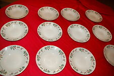 Set Of 6 GIBSON Gold Decal Christmas Holly & Berries Bowls 2 sets available - 12