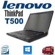 Lenovo ThinkPad T500 Laptop,2.5Ghz,4Gb,250Gb Windows10 WebCam + 90W