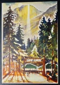 Postcard HTL - Fire Fall Camp Curry Yosemite National Park California