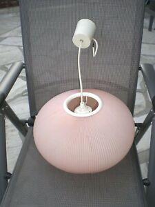 Deckenlampe 60 70 er Jahre rosa Lampenschirm Vintage TOP Cocoon Lampe