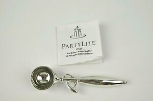 PARTYLITE ~ #P7625 Ice Cream Scoop Candle Snuffer Silverplate Finish