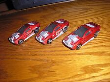 Lot of 3 Hot Wheels McD McDonld's Happy Meal toys Hollowback Exotic Race Cars