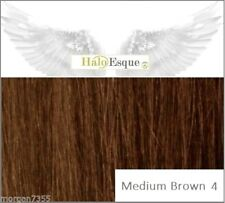 Halo Esque Secret Wire Remy Hair Extensions Premium 200g Medium Brown 4