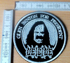 Deicide RARE Woven Round Patch death Cannibal Corpse Morbid Angel possessed