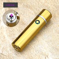 Electric Dual Arc Plasma USB Recharge Flameless Windproof Lighter JL108 Gold