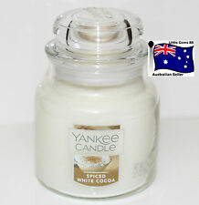 YANKEE CANDLE SMALL JAR CANDLE * Spiced White Cocoa * GLASS *CHRISTMAS SCENT*