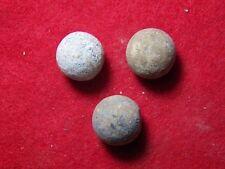 3 Excavated Civil War .69 Cal. Round Balls  - Manassas