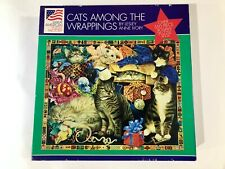 Great American Puzzle Factory Cats Among the Wrappings Over 550 Pieces 18x24 Fun
