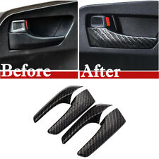 Carbon Fiber  ABS Car Interior Door Handle Cover trim For Toyota RAV4 2016-2019