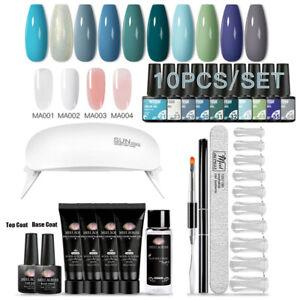 21Pcs/Set Color Extension Nail Gel Starter Kit UV Gel Polish Set with Lamp Dryer