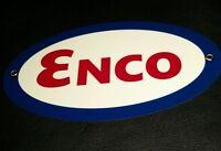 ENCO Gasoline Oils Oil Gas Oval sign