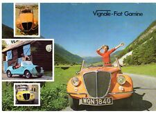 Vignale Fiat 500 Gamine 1969 UK Market Single Sheet Sales Brochure