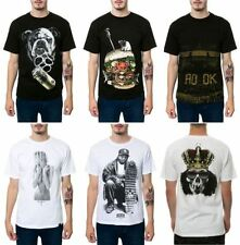 Short Sleeve Graphic Tee Punk Solid T-Shirts for Men