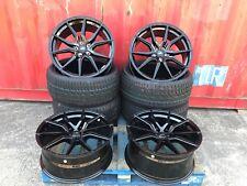 "4x18"" Negro Llantas de Aleación 2454518 Neumáticos VW T5 Transporter T6 5x120"
