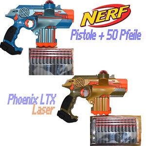 Nerf Phoenix LTX Lazer Tag Guns Laser Gold oder Blau Tiger Electronics ~vv 127