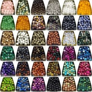 wholesale assorted gemstone loose beads 4mm 6mm 8mm 10mm 12mm stone jewelry DIY