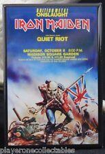 Iron Maiden Concert Poster Fridge / Locker Magnet. Madison Square Garden NYC
