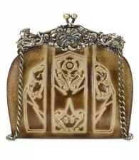 Patricia Nash Rosaria Sand Leather Burnished Tooled Clutch Shoulder NWT $129