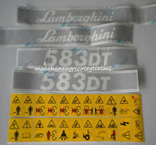 Serie Decalcomania-Adesivi Per Trattore Lamborghini 583DT...