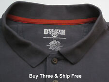 Duluth Trading Men's XL Short Sleeve Gray 100% Heavy Cotton Polo Shirt 5626