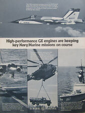 9/1977 PUB GENERAL ELECTRIC F404 ENGINE F-18 TF34 TURBOFAN S-3A T64 TURBOSHAFTAD
