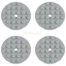 4x LEGO® 11213 6x6 Rund-Platte mit Loch neu-hellgrau NEU