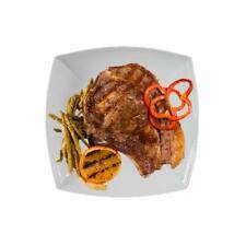 2 Steakteller Pastateller XXL 29 x 29 cm echtes Hartporzellan Weiß Speiseteller